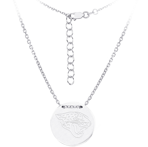 Sterling Silver Jacksonville Jaguars Disc 18in Necklace