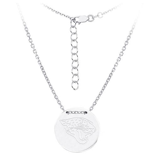 Sterling Silver Jacksonville Jaguars Disc 18in Necklace