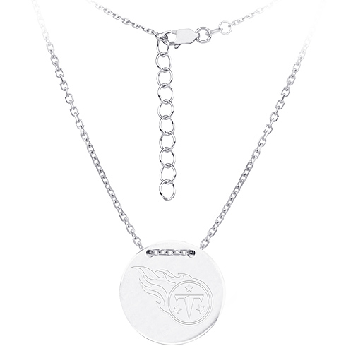 Sterling Silver Tennessee Titans Disc 18in Necklace