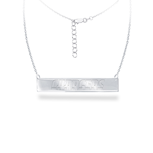 Sterling Silver San Diego Chargers Bar 18in Necklace