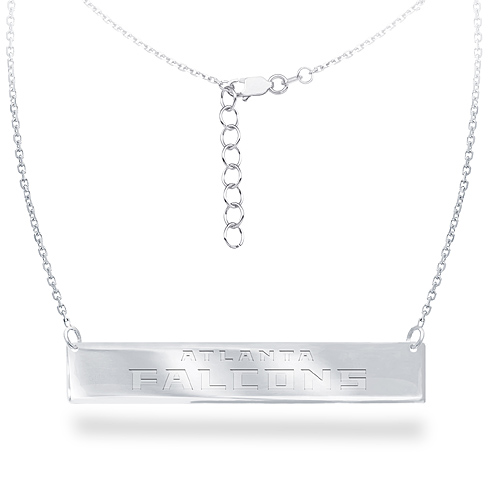 Sterling Silver Atlanta Falcons Bar 18in Necklace