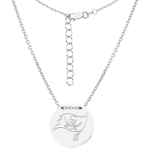 Sterling Silver Tampa Bay Buccaneers Bar 18in Necklace