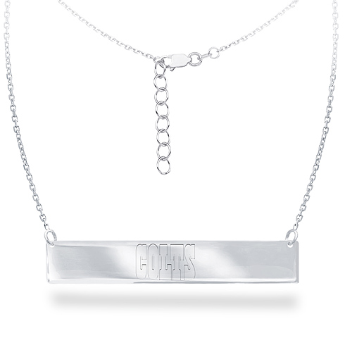 Sterling Silver Indianapolis Colts Bar 18in Necklace