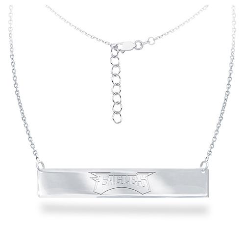 Sterling Silver Philadelphia Eagles Bar 18in Necklace