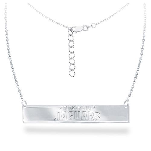 Sterling Silver Jacksonville Jaguars Bar 18in Necklace