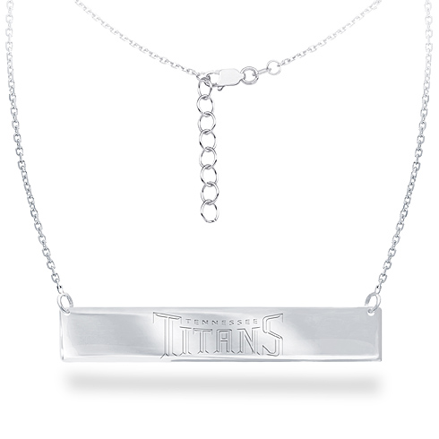 Sterling Silver Tennessee Titans Bar 18in Necklace