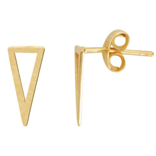 14kt Yellow Gold Bianca Wedge Stud Earrings