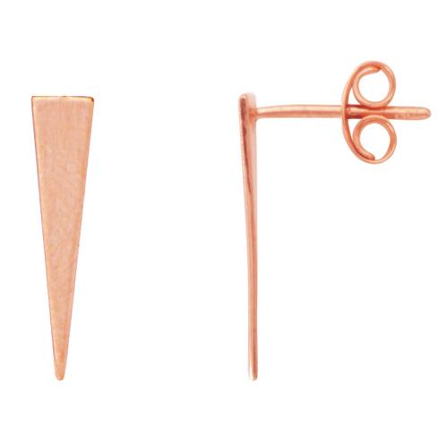 14kt Rose Gold Jagger Wedge Stud Earrings