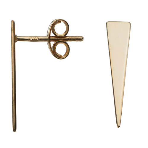 14kt Yellow Gold Jagger Wedge Stud Earrings