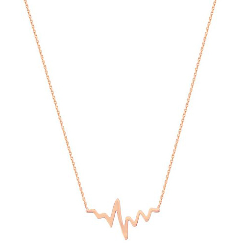 14kt Rose Gold Heartbeat 18in Necklace