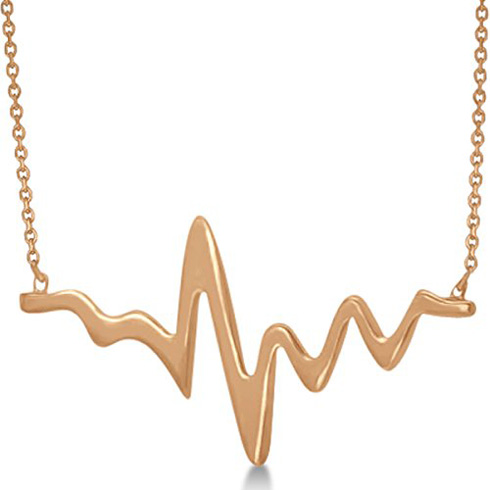 14kt Yellow Gold Heartbeat 18in Necklace