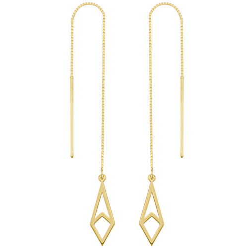 14kt Yellow Gold Harper Geometric Threader Earrings
