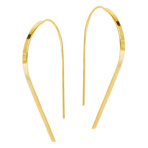 14kt Yellow Gold 1 1/2in Hawley St Round Wire Earrings