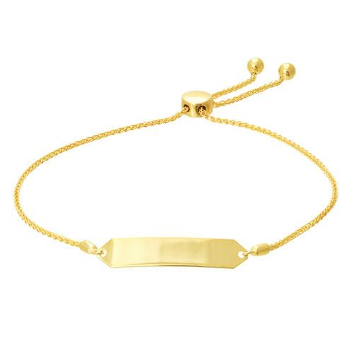 14kt Yellow Gold 9 1/2in Hexagon ID Bolo Bracelet