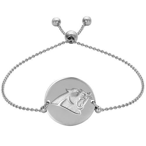 Sterling Silver Carolina Panthers Bolo Bracelet