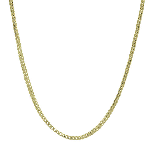 14k Yellow Gold 24in Franco Chain 2.5mm