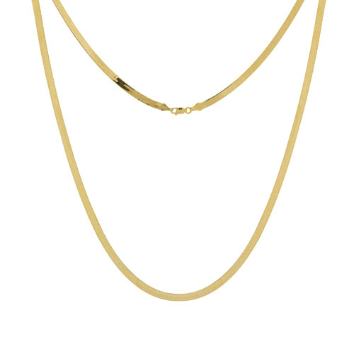 14k Yellow Gold 16in Herringbone Chain 5.2mm
