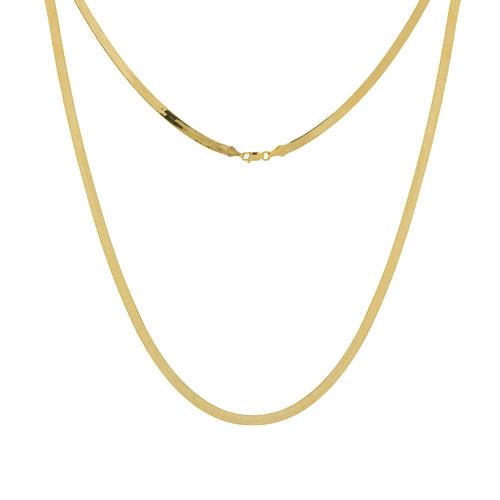 14k Yellow Gold 18in Herringbone Chain 5.2mm