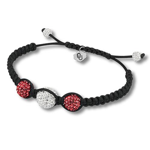 Sterling Silver Oklahoma Sooners Ball Bracelet