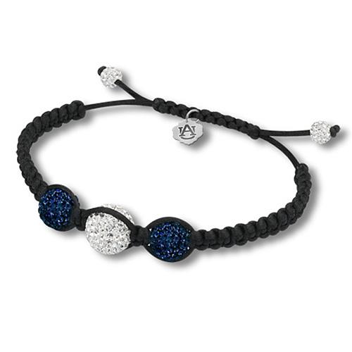 Sterling Silver Auburn Tigers Ball Bracelet