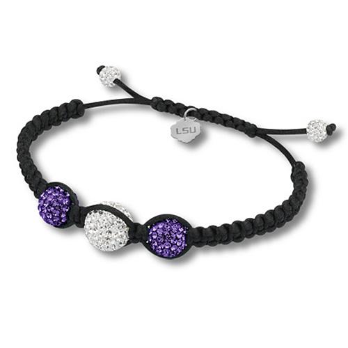 Sterling Silver LSU Ball Bracelet