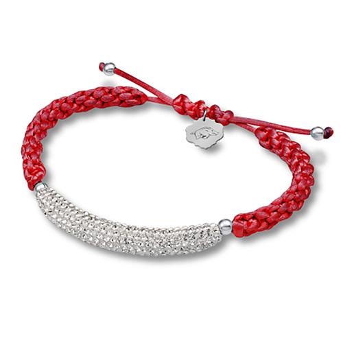 Sterling Silver Arkansas Razorbacks Bar Bracelet