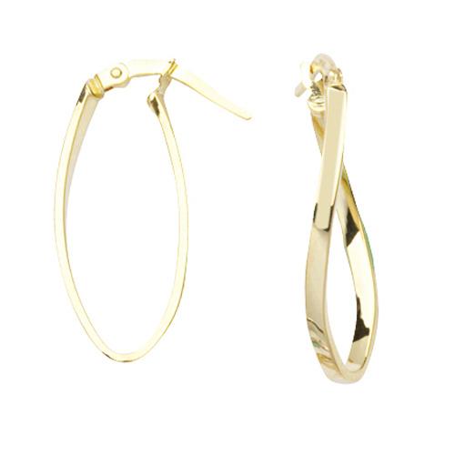 14kt Yellow Gold 1in Figure Eight Hoop Earrings