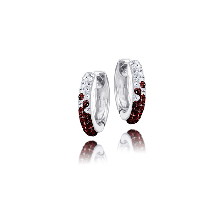 Sterling Silver Florida State University Crystal Huggie Earrings