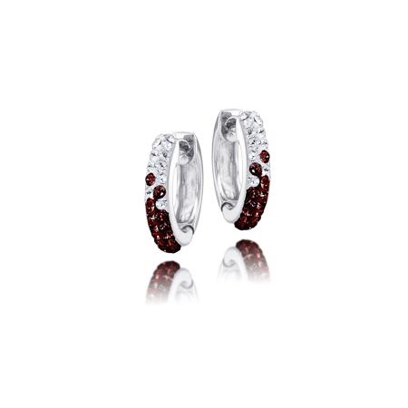 Sterling Silver Texas A&M University Crystal Huggie Earrings