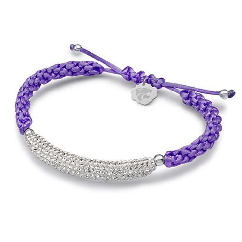 Sterling Silver Kansas State Wildcats Bar Bracelet