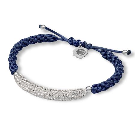 Sterling Silver Penn State Bar Bracelet