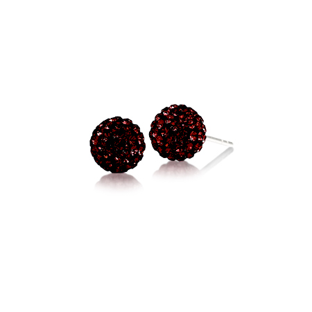 Sterling Silver South Carolina Crystal Ball Earrings