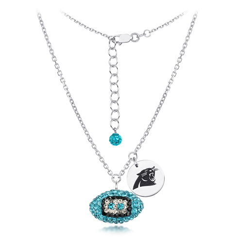 carolina panther jewelry sterling silver carolina panthers football 2694