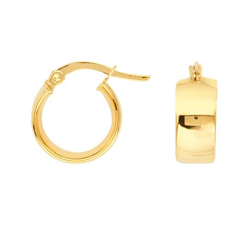 14kt Yellow Gold 1/2in Huggie Hoop Earrings 5mm
