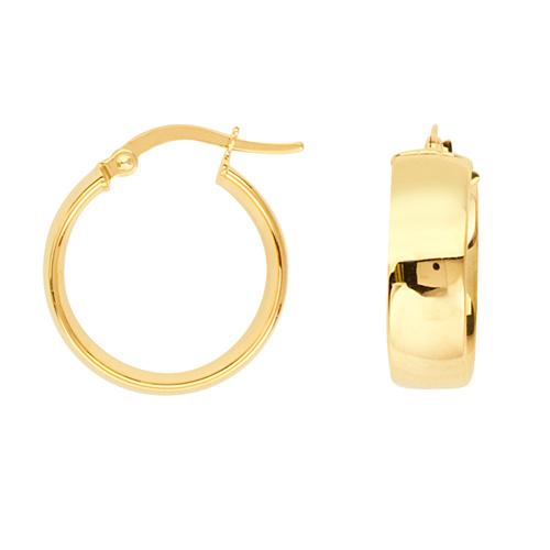 14kt Yellow Gold 3/4in Huggie Hoop Earrings 5mm