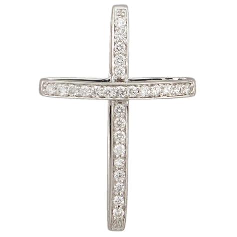 1/4 ct Sterling Silver Diamond Cross