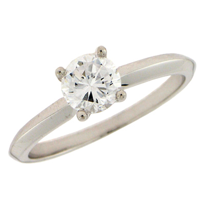1/4 ct 10kt White Gold Diamond Solitaire Promise Ring