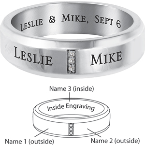 14kt White Gold Devoted Commitment Band
