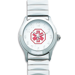 Women's Stainless Steel Medical Watch
