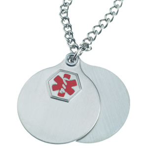 26in Medical Necklace - Stainless Steel