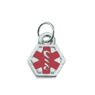 Double-Sided Medical Charm 3/8in - Stainless Steel
