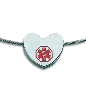 18in Medical Heart Necklace - Stainless Steel
