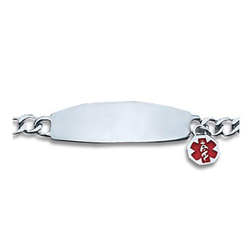 Ladies' 7 1/2in Medical Bracelet - Sterling Silver