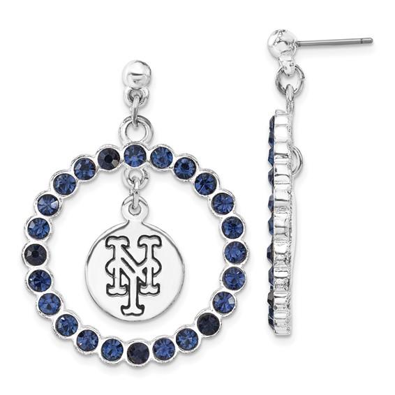 New York Mets Spirit Crystal Logo Earrings