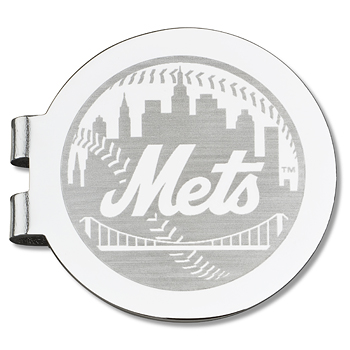 New York Mets Laser Engraved Money Clip