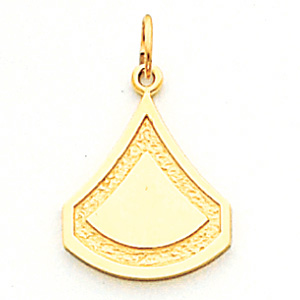 3/4in US Army PFC Pendant - 14k Yellow Gold