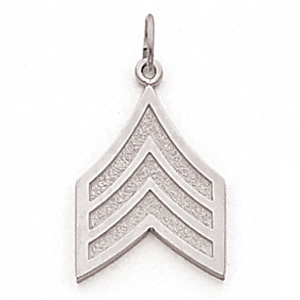 Sterling Silver 3/4in US Army Sergeant Pendant