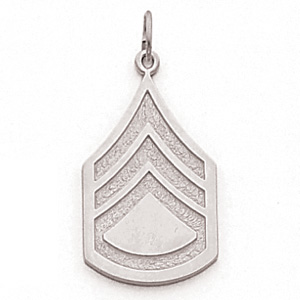 Sterling Silver 1in US Army Staff Sergeant Pendant
