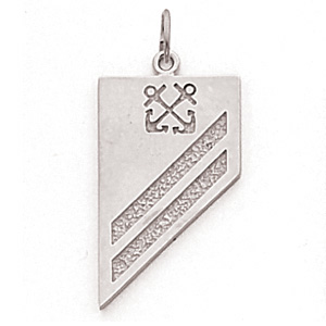 1in US Navy SA Pendant - Sterling Silver