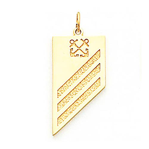 1 1/8in US Navy Seamen Pendant - 10k Yellow Gold